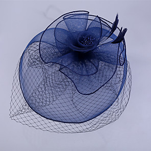 cheap Fascinators-Net Hair Clip with Flower 1 Piece Wedding / Special Occasion / Horse Race Headpiece