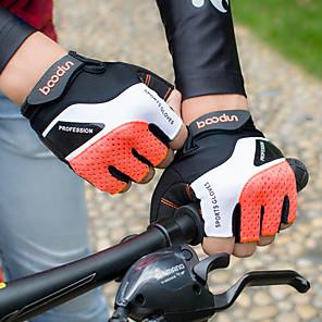 cheap Cycling Jersey & Shorts / Pants Sets-Bike Gloves / Cycling Gloves Mountain Bike Gloves Mountain Bike MTB Breathable Anti-Slip Shockproof Protective Fingerless Gloves Half Finger Sports Gloves Lycra Terry Cloth Black Grey Orange for