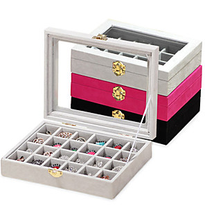 cheap Jewelry & Cosmetic Storage-24 Piece Wood Women's Large Storage Jewelry Box