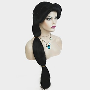 cheap Anime Costumes-Synthetic Wig Straight Braid Wig Long Natural Black Synthetic Hair Women's Synthetic Black StrongBeauty