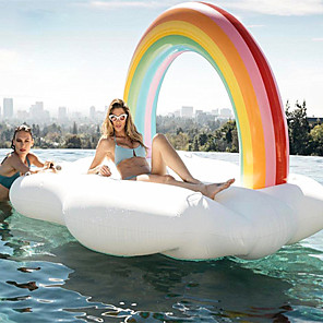 cheap Inflatable Ride-ons & Pool Floats-Rainbow Inflatable Pool Floats PVC Inflatable Durable Water Sports Rafting for Adults 210*140*135 cm