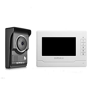 cheap Video Door Phone Systems-XINSILU® Security 7inch Wired Video Door Phone Doorbell Intercom Door Access Control System XSL-V70N-L-Black Color Outdoor Camera