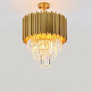 cheap Chandeliers-QIHengZhaoMing 4-Light 45 cm Chandelier Metal Crystal Painted Finishes Modern 110-120V / 220-240V