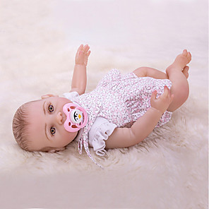 cheap Stuffed Animals-OtardDolls 16 inch Reborn Doll Girl Doll Baby Girl Newborn lifelike Hand Made Child Safe Non Toxic Full Body Silicone with Clothes and Accessories for Girls' Birthday and Festival Gifts