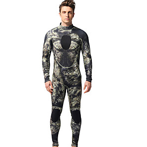 cheap Wetsuits, Diving Suits & Rash Guard Shirts-MYLEDI Men's Full Wetsuit 3mm Neoprene Diving Suit Thermal / Warm Long Sleeve Back Zip - Swimming Diving Patchwork Spring Summer Fall / Winter