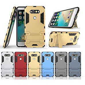 cheap Other Phone Case-Case For LG LG V20 with Stand Back Cover Solid Colored Hard PC