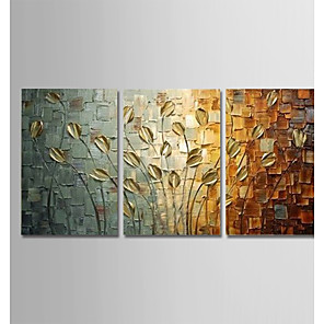cheap Abstract Paintings-Hand-Painted Modern Abstract Art Canvas Peacock Paintings Wall Home Decor Three Panels Ready To Hang