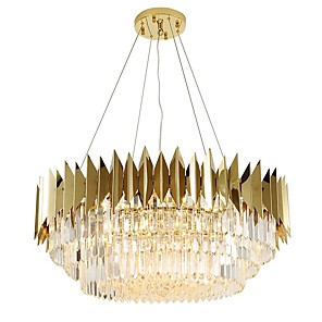 cheap Candle-Style Design-12 Bulbs QIHengZhaoMing 60 cm Chandelier Metal Crystal Painted Finishes Modern 110-120V / 220-240V