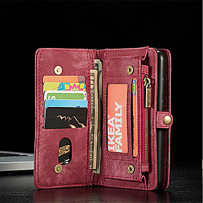 cheap Huawei Case-CaseMe Leather Protective Wallet with Removable Magnetic Closure Cell Phone Cover Many Compartments 11 Card Pockets Zippered Coin Pocket Huawei P20 P20Pro Filp Bag Purse