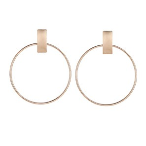 cheap Earrings-Women's Hoop Earrings Sculpture Ladies Vintage Ethnic Fashion Earrings Jewelry Gold / Silver For Going out Birthday 1 Pair