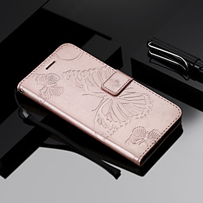 cheap OPPO Case-Case For OPPO OPPO R11s / OPPO F5 / OPPO A59 Wallet / Card Holder / Flip Full Body Cases Butterfly Hard PU Leather