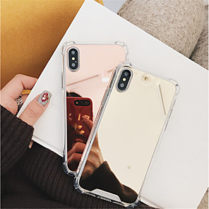 cheap iPhone Cases-Case For Apple iPhone 11 / iPhone 11 Pro / iPhone 11 Pro Max Shockproof / Mirror Back Cover Solid Colored Hard PC