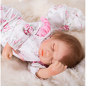 cheap Reborn Doll-OtardDolls 20 inch Reborn Doll Girl Doll Baby Girl Newborn lifelike Eco-friendly Gift Hand Made Silicone 3/4 Silicone Limbs and Cotton Filled Body with Clothes and Accessories for Girls' Birthday and