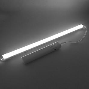 cheap LED Cabinet Lights-ZDM® 0.33m Rigid LED Light Bars 24 LEDs SMD5730 14mm Warm White Cold White Self-adhesive Body Sensor AA Batteries Powered 1set