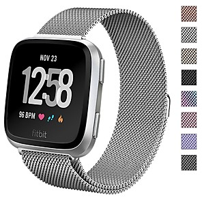 cheap Smartwatch Bands-Watch Band for Fitbit Versa Fitbit Sport Band / Milanese Loop Stainless Steel Wrist Strap