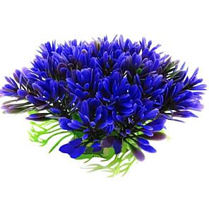 cheap Aquarium & Fish Accessories-Fish Tank Aquarium Decoration Waterproof Ornament Waterplant Purple Waterproof washable Non-toxic & Tasteless Plastics 1 10*5.5 cm