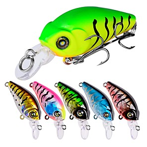 cheap Fishing Lures & Flies-6 pcs Fishing Lures Hard Bait Outdoor Sinking Bass Trout Pike Bait Casting Lure Fishing General Fishing Plastic