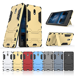 cheap Other Phone Case-Case For Nokia Nokia 3 with Stand Back Cover Solid Colored Hard PC