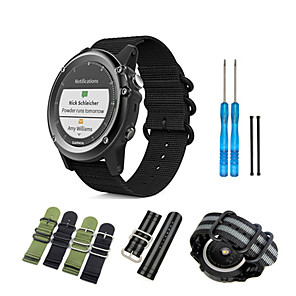 cheap Smartwatch Bands-Watch Band for Fenix 5x / Fenix 3 HR / Fenix 3 Garmin Sport Band Nylon Wrist Strap