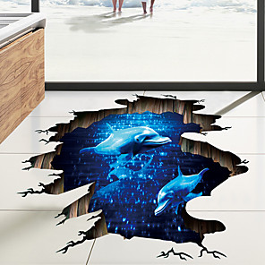 cheap Wall Stickers-Decorative Wall Stickers / Floor Stickers - 3D Wall Stickers Landscape / 3D Living Room / Bedroom / Bathroom