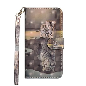 cheap iPhone Cases-Case For Huawei Huawei P20 / Huawei P20 Pro / Huawei P20 lite Wallet / with Stand / Flip Full Body Cases Animal Hard PU Leather