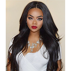 cheap Synthetic Lace Wigs-Synthetic Wig Synthetic Lace Front Wig Wavy Kardashian Layered Haircut Lace Front Wig Long Black#1B Dark Brown Synthetic Hair Women's with Baby Hair Soft Heat Resistant Black Modernfairy Hair
