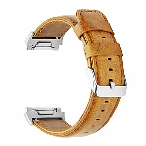 cheap Smartwatch Bands-Watch Band for Fitbit ionic Fitbit Classic Buckle Genuine Leather Wrist Strap