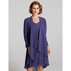 cheap Wedding Wraps-Long Sleeve Coats / Jackets Chiffon Wedding / Party / Evening Women's Wrap With Ruffles / Pleats / Solid