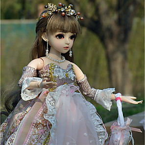 cheap Reborn Doll-Doris 20 inch Girl Doll Ball-joined Doll / BJD Blythe Doll Baby Girl lifelike Hand Made High-Temperature Resistant Fibre Wigs Full Body Silicone with Clothes and Accessories for Girls' Birthday and