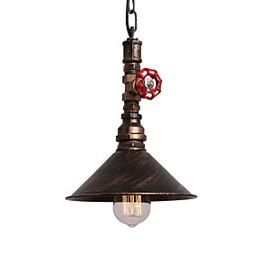 cheap Pendant Lights-Vintage Industrial Pipe Pendant Lights Metal Shade Restaurant Cafe Bar Decoration Lighting With 1-Light Painted Finish