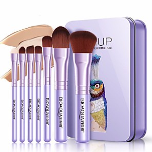 cheap Concealers & Contours-Professional Makeup Brushes Makeup Brush Set 7 PCS Full Coverage Alloy for Eyeliner Brush Blush Brush Foundation Brush Lip Brush Eyebrow Brush Eyeshadow Brush Concealer Brush Eyelash Brush