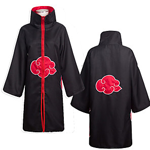 cheap Anime Costumes-Inspired by Naruto Akatsuki Anime Cosplay Costumes Japanese Cosplay Suits Anime Long Sleeve Cloak For Men's