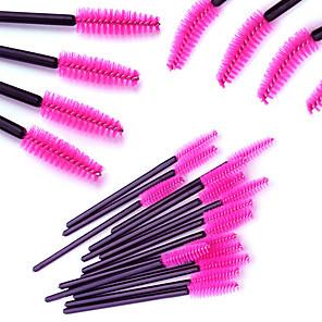 cheap Others Brushes-100pcs-makeup-brushes-professional-eyelash-comb-round-eyelash-brush-synthetic-hair-professional-comfy-plastic-small-brush-high-quality