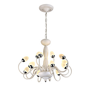 cheap Candle-Style Design-15-Light ZHISHU 70 cm Creative / New Design Chandelier Metal Candle-style Painted Finishes Artistic / Nature Inspired 110-120V / 220-240V