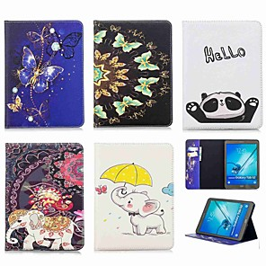 cheap Samsung Case-Case For Samsung Galaxy Tab S2 9.7 Wallet / Card Holder / with Stand Full Body Cases Elephant Hard PU Leather