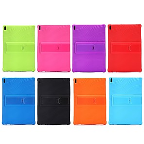 cheap Other Case-Case For Lenovo Lenovo Tab 4 10 Plus / Lenovo Tab 4 10 Shockproof / with Stand Back Cover Solid Colored Soft Silicone