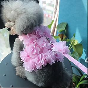 cheap Dog Collars, Harnesses & Leashes-Dog Cat Pets Harness Leash Walking Cute and Cuddly Bowknot Flower / Floral Bowknot Flower Fabric Husky Alaskan Malamute Golden Retriever Dalmatian Corgi Beagle Pink