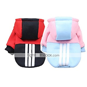 cheap Dog Clothes-Dogs Cats Pets Coat Sweatshirt Dog Clothes Light Blue Black Dark Blue Costume Husky Labrador Alaskan Malamute Woolen Zebra Sports & Outdoors Casual / Sporty XS S M L XL XXL