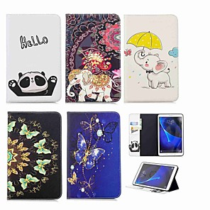 cheap Samsung Case-Case For Samsung Galaxy Tab A 10.1 (2016) Wallet / Card Holder / with Stand Full Body Cases Elephant Hard PU Leather