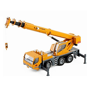cheap Toy Cars-Toy Car Construction Vehicle Crane New Design Metal Alloy Mini Car Vehicles Toys for Party Favor or Kids Birthday Gift 1 pcs