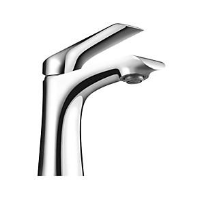 cheap Bathroom Sink Faucets-Bathroom Sink Faucet - Widespread Chrome Centerset Single Handle One HoleBath Taps