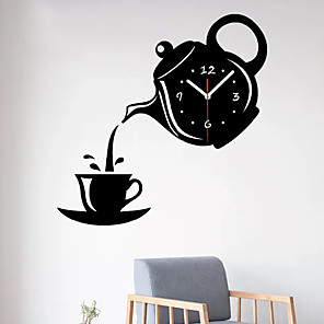 cheap Wall Stickers-Modern / Contemporary Plastic & Metal Irregular Indoor / Outdoor,AA Batteries Powered Wall Clock