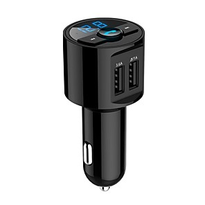 cheap Bluetooth Car Kit/Hands-free-Bluetooth Car Kit Hands Free FM Transmitter Wireless MP3 Music Paying Dual USB 5V 3.6A Car Charger Voltage Detection