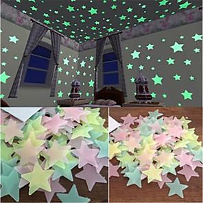 cheap Wall Stickers-Halloween Decorations / Holiday Wall Stickers Plane Wall Stickers / Luminous Wall Stickers Light Switch Stickers, ABS+PC Home Decoration Wall Decal Wall / Window Decoration 100pcs / Removable
