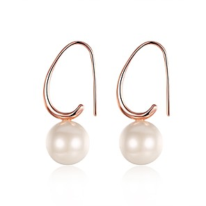 cheap Earrings-Women's Freshwater Pearl Drop Earrings Mismatched Ladies Sweet everyday Rose Gold Plated Earrings Jewelry Rose Gold For Wedding Party Daily Masquerade Engagement Party Prom 1 Pair