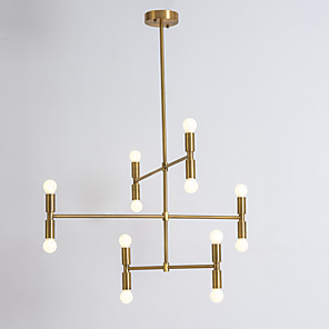cheap Indoor Wall Lights-12 Bulbs Ecolight™ 90 cm Creative Adjustable Chandelier Metal Sputnik Electroplated Painted Finishes Artistic Chic & Modern 110-120V 220-240V