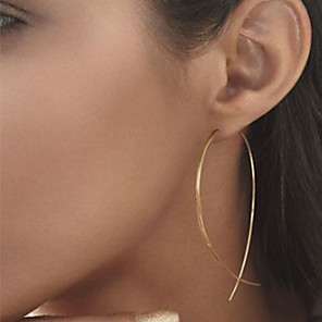 cheap Eyeshadows-Women's Stud Earrings Cheap Ladies Simple European Simple Style Fashion Elegant Earrings Jewelry Black / Silver / Golden For Party Daily Casual