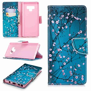 cheap Samsung Case-Case For Samsung Galaxy Note 5 / Note 4 / Note 3 Wallet / Card Holder / with Stand Full Body Cases Flower Hard PU Leather