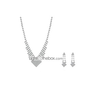 cheap Tattoo Grips-Jewelry Set Ladies Party Cubic Zirconia Imitation Diamond Earrings Jewelry White For / Necklace