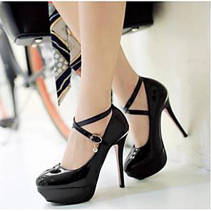 cheap Women's Heels-Women's Heels Stiletto Heel PU(Polyurethane) Comfort Spring White / Black / Pink / Daily / EU36